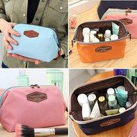 Wholesale Korean Portable Zipper Bright Colorful Color Womens Girls Travel Cosmetic Toiletry Makeup Bag Handbag Beauty Pouch ZD0007 Salebags