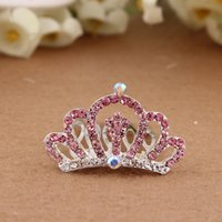 amber ornament - 2015 Hair Clip Baby Children s Hair Accessories Alloy Diamond Tiara Crown Beautiful Popular Ornaments Inserted Cryst