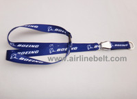 airline seatbelt buckle - Shipping free Boeing lanyard aircraft buckle lanayard keychain seatbelt buckle lanyard airplane airline keychain lanyard silver