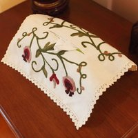 american paper export - The export of American country cotton paper towel box set paper set of Lu embroidery