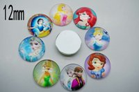 Wholesale mm round flatback handmade Princess photo domed glass cabochons settings cameo jewelry Fittings