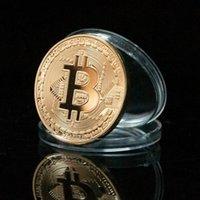 Wholesale 1Pc Gold Plated amp Bronze Physical Bitcoins Casascius Bit Souvenir Commemorative Bitcoins Perfect Gift BTC001