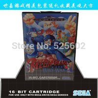 Wholesale Sega games card Mega Man The Wily Wars with box and manual for Sega MegaDrive Video Game Console bit MD card