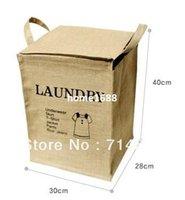 clothes box storage - pc Retro Linen Vintage Storage Baskets Bags Classification Boxes for Clothes Laundry Paper Plastic Metal