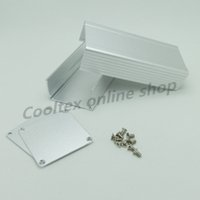 aluminum electrons - new x46x46mm Aluminum Extruded project enclosure box electron case for Electronic Power amplifier housing
