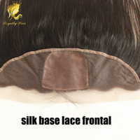 Cheap Malaysian straight silk base frontal human hair three part lace frontal with baby hair 13x4 lace frontal closure bleached knots