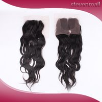 Wholesale Top Lace Closure Virgin Brazilian Natural Wave Hairs Hair Pieces No Chemical Hair Natural Color