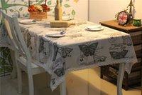 table cloths - LUCK100 European American Hot sell Madame Butterfly animal print cotton tablecloth Tablecloths table cloth sofa toalha de mesa