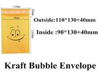 Compra Burbuja de papel kraft-Los envases de oro de la burbuja de papel de Kraft superiores envasaron los bolsos de los sobres El envío expreso de la alta calidad 110x130 + 40m m Empaquetando el paquete empaqueta