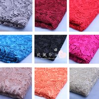 soluble fabric - 1 m length of high quality water soluble lace wedding dress fabric can customize a variety of colors