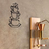 acrylic coffee mug - Cartoon Kitchen living Room Coffee Mugs Generation Carved Acrylic Removable Wall Stickers