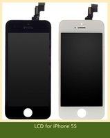 Cheap Black White LCD Display Touch Screen Digitizer Full Assembly for iPhone 5S 5C Replacement Repair Parts & free shipping