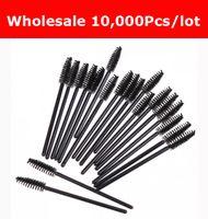 cheap makeup - Cheap Price NEW Sale Black Disposable Eyelash Brush Mascara Wands Applicator Makeup Cosmetic Tool