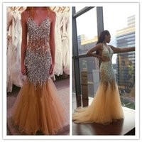 Cheap Real Photos Prom Dresses Best Spaghetti Straps Tulle Mermaid Prom Dresses