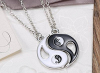 Wholesale 2015 Fashion Lovers Necklace BEST FRIENDS Alloy Eight Symbol Pattern Jigsaw Pendant Necklace