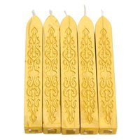 Wholesale 5x Traditional Flexible Glue Gun Sealing Wax Stick Wax Seals With Wick Gold B2C Shop