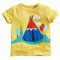 baby animals list - The summer new listing of European and American style brand children s wear short sleeved T shirt cotton Crewneck T Shirt Baby C
