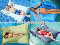 bean bag lounge - XXL large blue outdoor float bean bag pool side waterproof beanbag chair extra wide Giant bean lounge BIG SIZE inch x inches floats