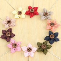 Wholesale 10 Colors Hot Lapel Flower Camellia Handmade Boutonniere Stick Brooch Pin Men s Accessories Party Decoration