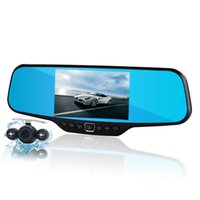 Wholesale New inch lcd car camera recorder full hd p rearview mirror camera night vision car dvr dual lens parking mirror dvrs
