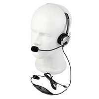 Wholesale 4 Pins RJ9 Crystal Head Telephone Call Center Monaural Office Phone Headset For Avaya Mitel Nortel ROLM C2158D