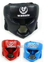 Wholesale Boxing helmet Closed type boxing head guard Sparring MMA Muay Thai kick brace Head protection