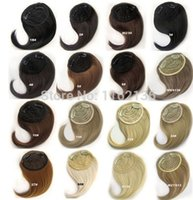 Wholesale 16 colors available clip on hair fringe clip in hair bang synthetic side hair bang hair extension pc