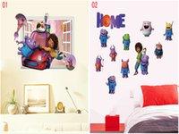 alien movie art - Mix Cartoon Crazy alien Wall stickers Wall Decals Sticker for Baby Nursery Child Bedroom Wall Stick