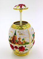Wholesale Cloisonne craft toothpick box toothpick box automatically C relief Muslim family of high end decorative shipping