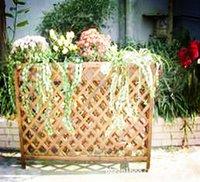 Wholesale Carbonized wood preservative wood outdoor garden flower shelf flower pots fence off the grid