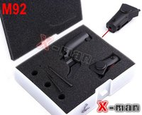 airsoft gun pistol - Tactical mw Red Laser Sight Laser Aimer Laser Pointer for M92 with Lateral Grooves for Pistol Rifle Airsoft Gun Shooting
