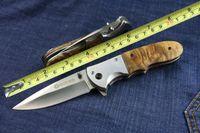 Boker DA72 hoja del cuchillo plegable 5CR13MOV alta calidad manija de acero 56HRC Madera + supervivencia al aire libre del cuchillo B142M