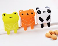 Wholesale Cookies Packaging Christmas - free shipping cute bear cookie package cute panda frog candy box wedding candy holders cute cartoon cookie box party box