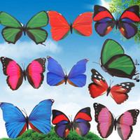 Wholesale New Arrival Colorful Butterfly Garden Ornament Flower Pot Plant Butterflies Garden Decor Random Color