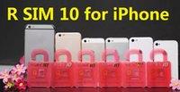 Wholesale R SIM RSIM R SIM Unlock Card Perfect unlock iphone6 plus iphone6 s c IOS8 ios x AT T T mobile Sprint WCDMA GSM CDMA DHL Free
