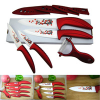 Wholesale Beauty Gifts Zirconia kitchen Ceramic fruit Knife Set Kit quot quot quot quot inch with Flower printed