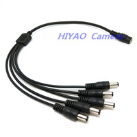 Wholesale 2PCS Power Splitter Adaptor Cable Female to Male to way cable for cctv camera Freeshipping
