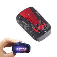 av red - Hot Sale Degree Car Speed Radar Detector Voice Alert Detection Shaped Safety for Car GPS Laser LED