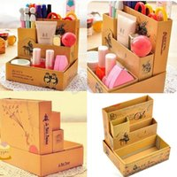 Cheap Free Shipping DIY Paper Board Fairy Tale Storage Box Desk Stationery Makeup Cosmetic Organizer