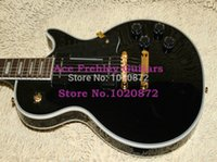 guitar parts - Custom Black beauty Electric Guitar P90 pickups golden Parts old relics Guitar Factory