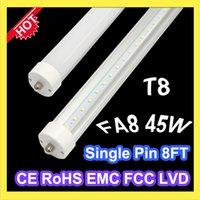 Wholesale FA8 single pin T8 LED bulb tube lights mm cm M foot SMD2835 leds lm W AC85 V