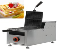 belgian dogs - Gas French muffin hot dog machine four Square Belgian Waffle Iron Non Stick easy operation easy clean