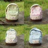 Wholesale Cute Womens School Bag Coin Change Purse Floral Zipper Velcro Linen Patchwork Wallet Lovely Gifts