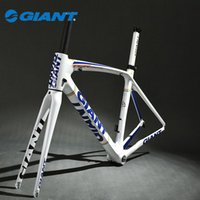 Wholesale GIANT Original TCR Composite T Carbon Original C Road Bike Bicycle Parts Fork Frame Set Size S mm White