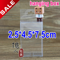 clear pvc boxes - 2 cm hanging box pvc gift box wedding custom logo product cases display clear plastic package