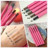 Wholesale 500pcs Waterproof Dark Brown Eyebrow Pencil Pen Eye Brow Liner Powder Shaper Makeup Tool