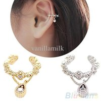 clip on earrings - New Punk Fashion Ear Cuff Wrap Rhinestone Cartilage Clip On Earring Non Piercing M9Z