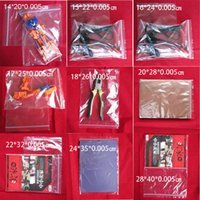 Wholesale Economic Ziplock bags mm Double thicknessfrom cm to cm Zipper Lock Transparent PE Daily Necessities bags Customize