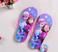 hot flops - Frozen Casual Slipper Shoe ELSA ANNA Flip Flops HOT Children Cartoon Beach Shoes Household Shoes