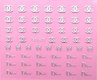 Wholesale 2013 new GS style choices d nail art decal stickers for women stamping decoration individual pack for resale